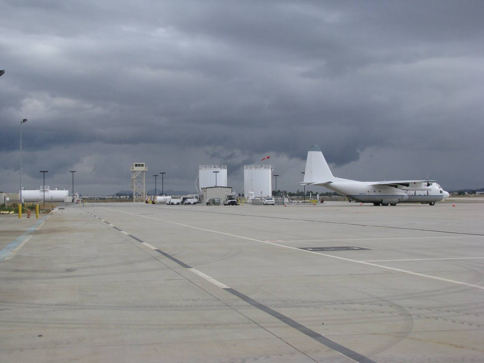 C-130 in front of new fuel facility
