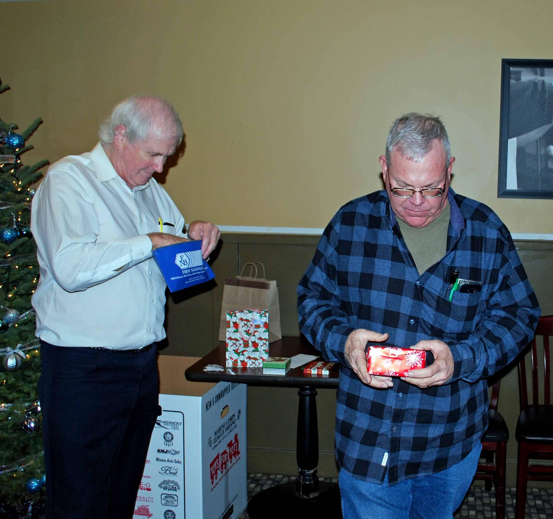 David and David at the gift exchange.
