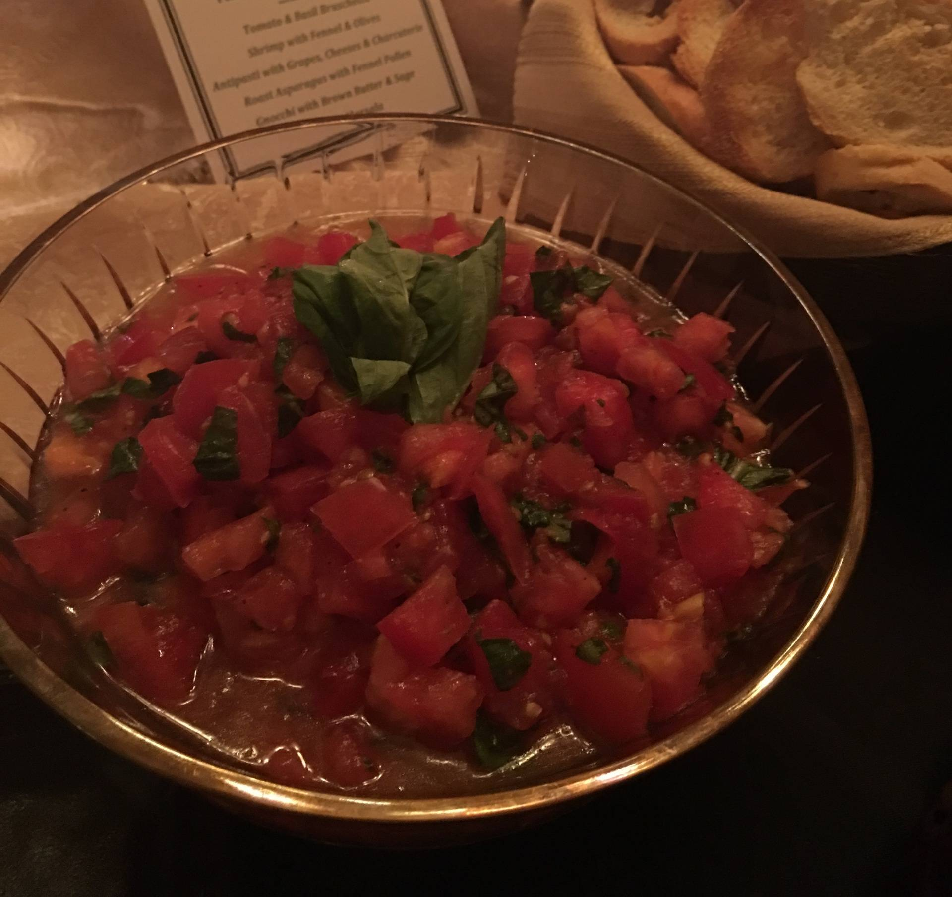 Tomato Basil Bruscheta