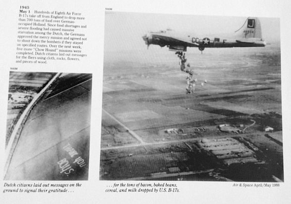 Dropping food over German occupied Holland