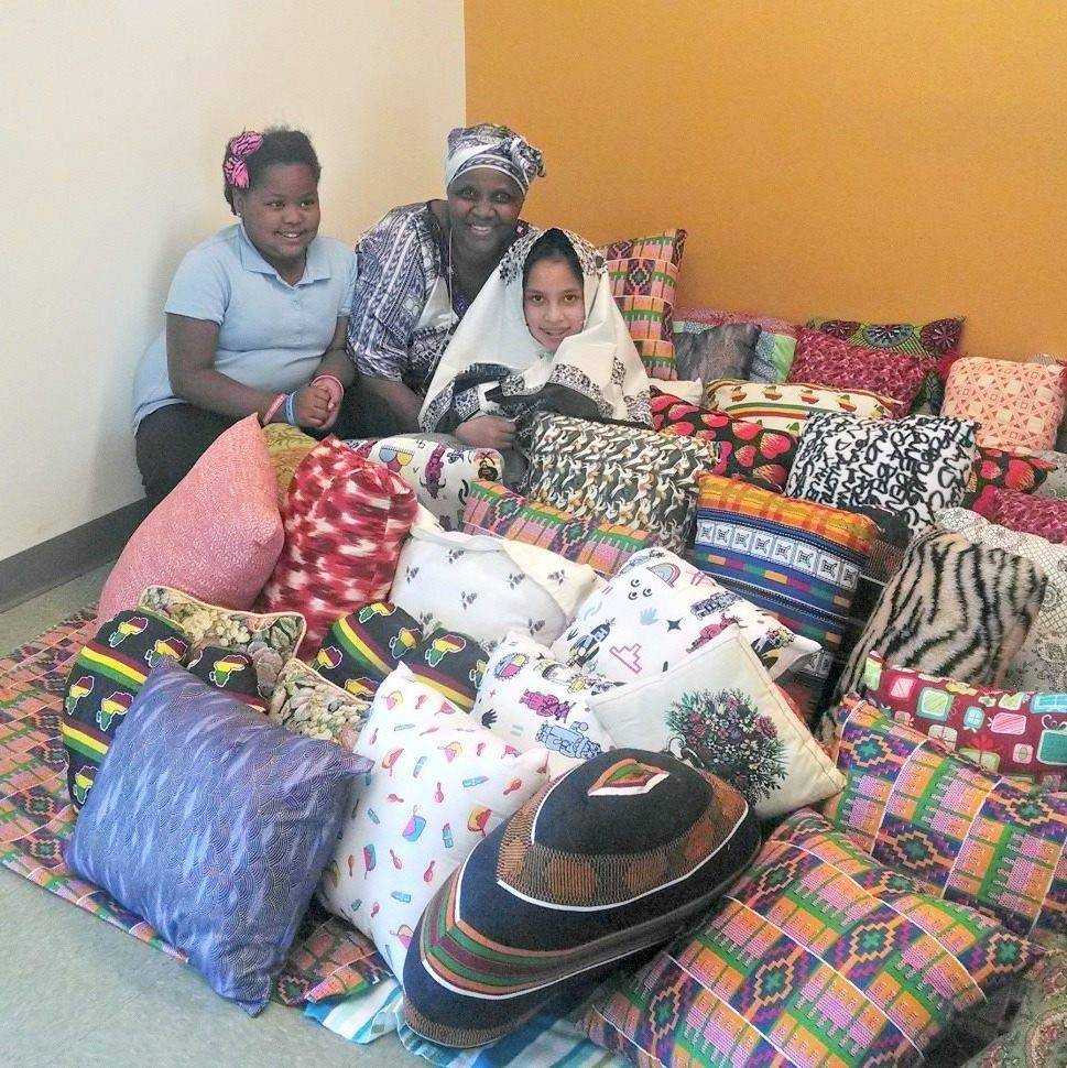 Pillows Made at New Mexico Women's Global Pathways