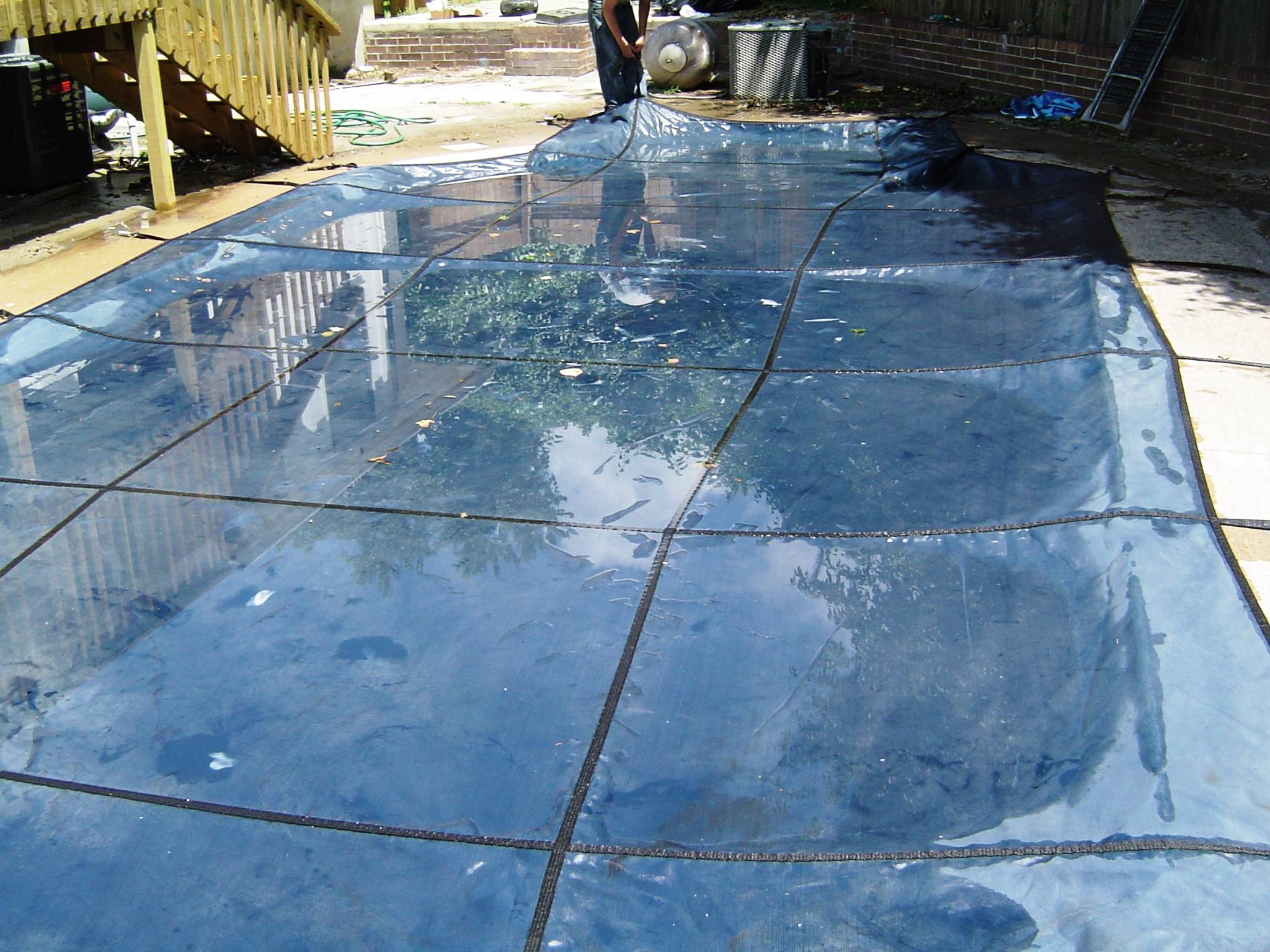 pool  cover concrete