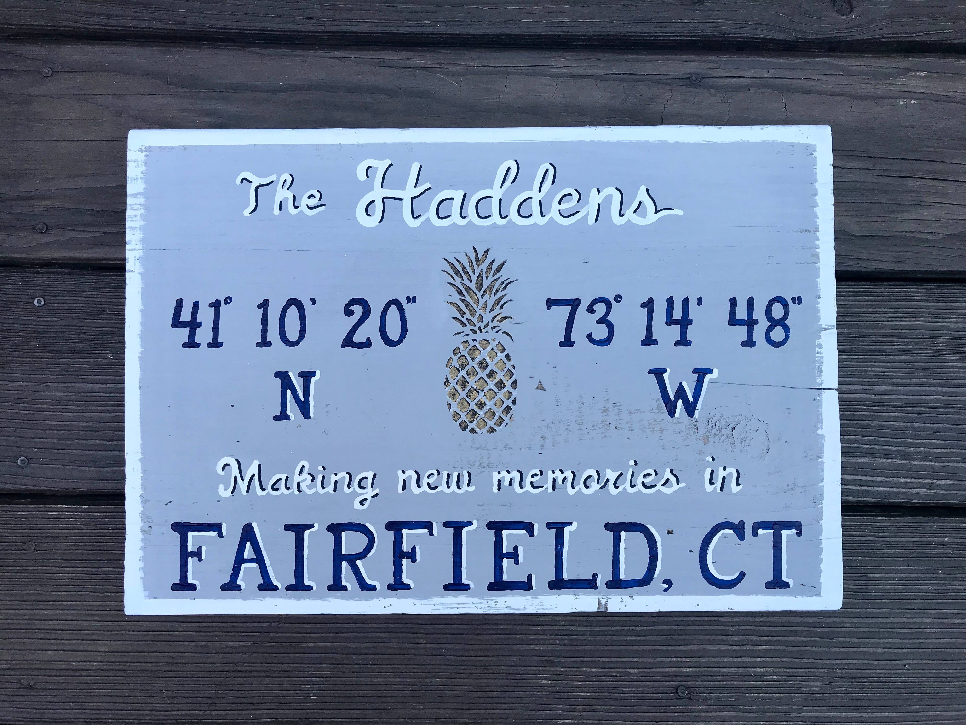 Personalized town sign