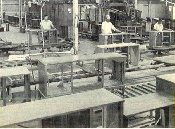 The Curtis Mathes Finishing Department in 1961