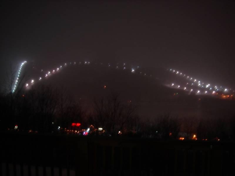 Snowy night at wisp