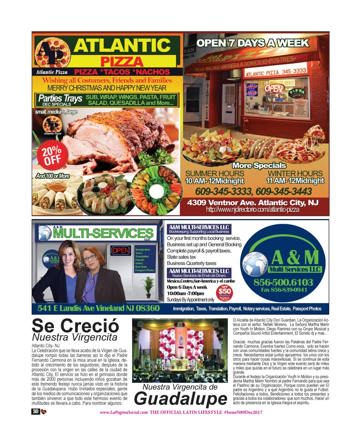 ATLANTIC PIZZA / ANNY ROSARIO / MELISA ESCRIBIANO