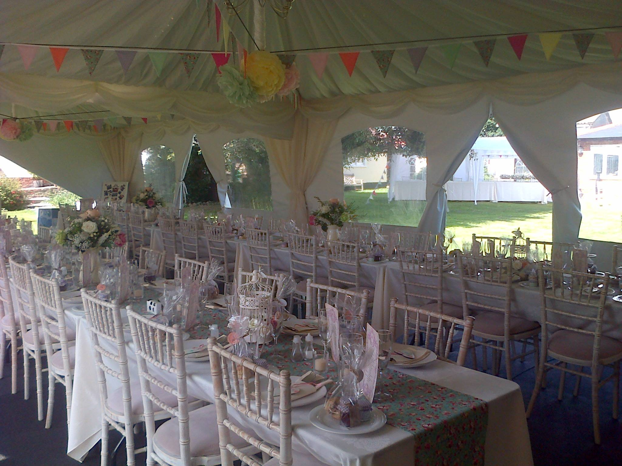 wedding seating in rows
