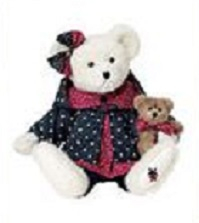 """Occ #640000 HOLIDAY B BEARSLEY NEW//tag From Retail Store 8/"""" Boyds Plush Spec"""