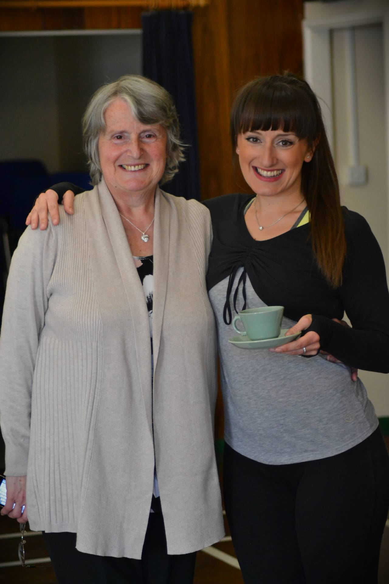 Yvette with her Mum