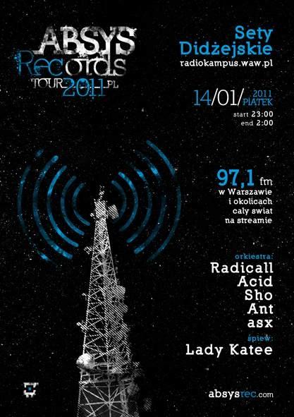 2011.01.14 - Radio Kampus - Warszawa - Absys Records Tour 2011
