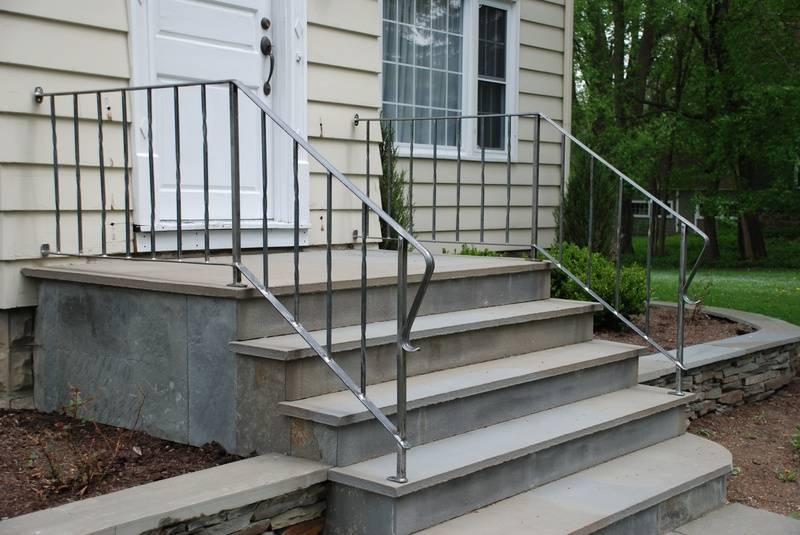 Custom made hand-railings