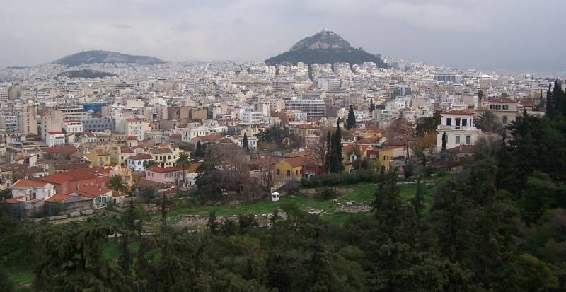 Athens at our feet.