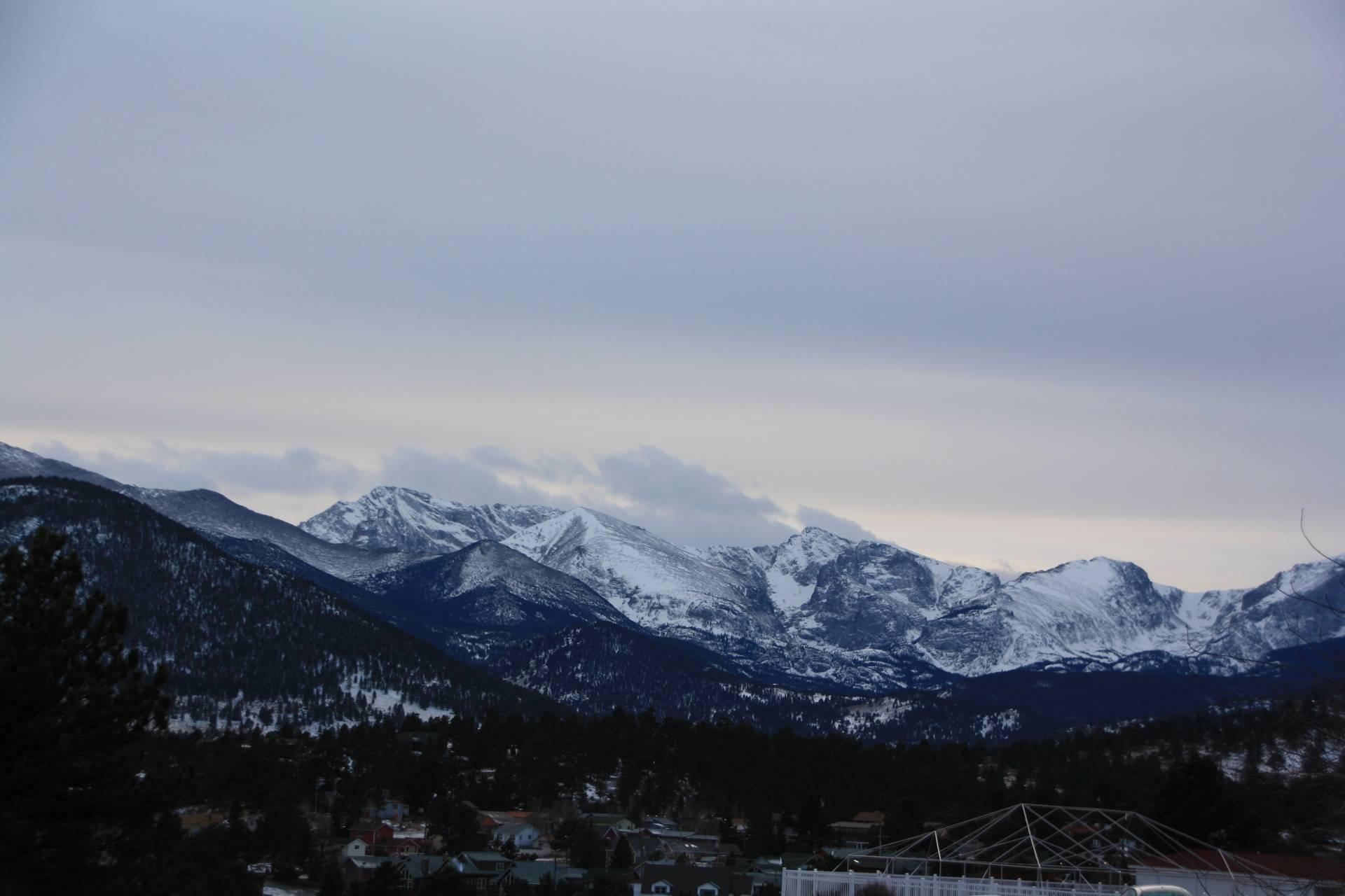View or Rockey Mountain National Park, Estes Park CO