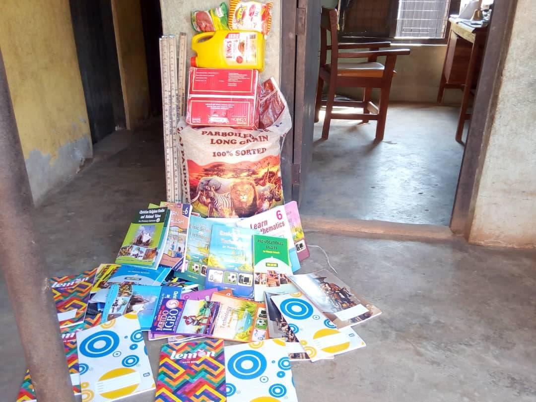 Teacher guidance books and essential lunch supplies