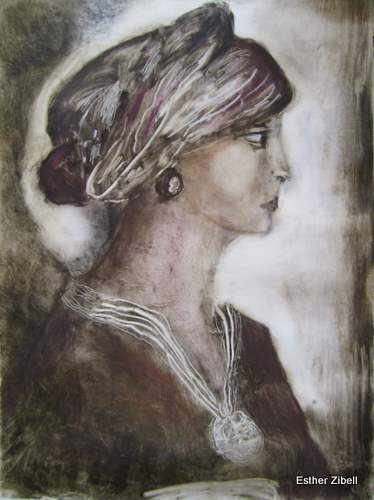 Lady With Scarf