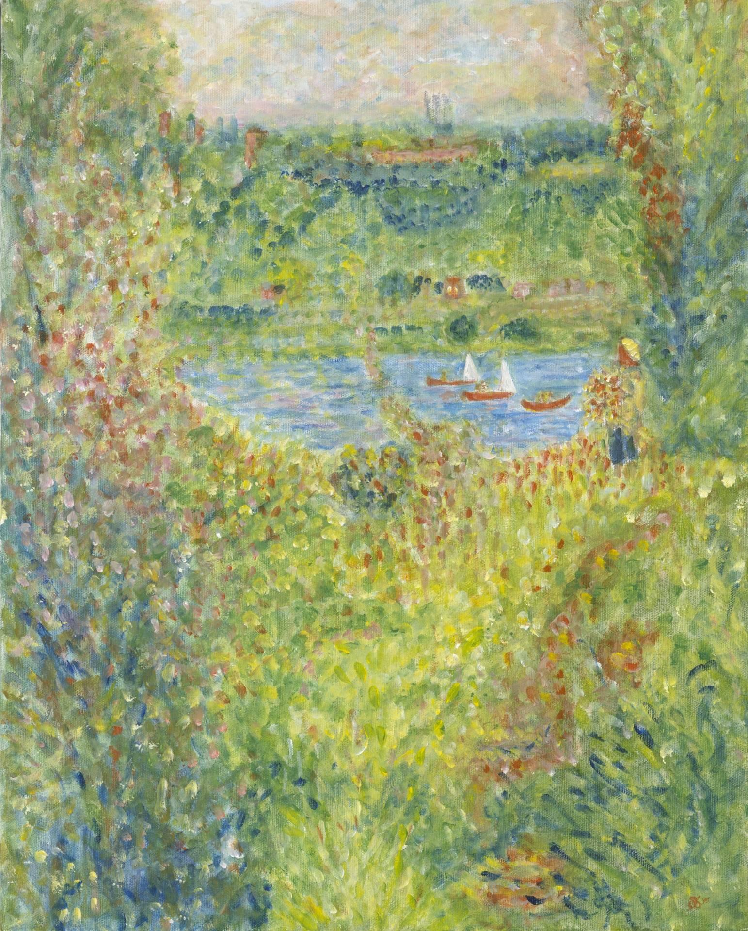 Interpretation of The Seine at Chatou by Renoir