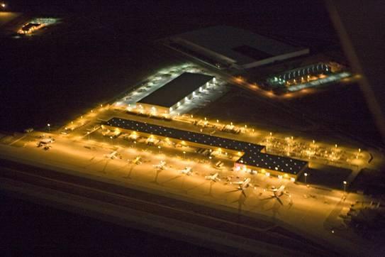 A Night Shot of March Inland Port (DHL Hub)