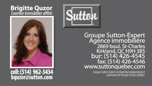 Business Card for a Sutton Experts Agent