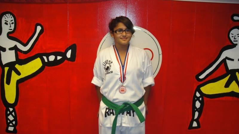 Bridgette Martinez 3rd place fighting