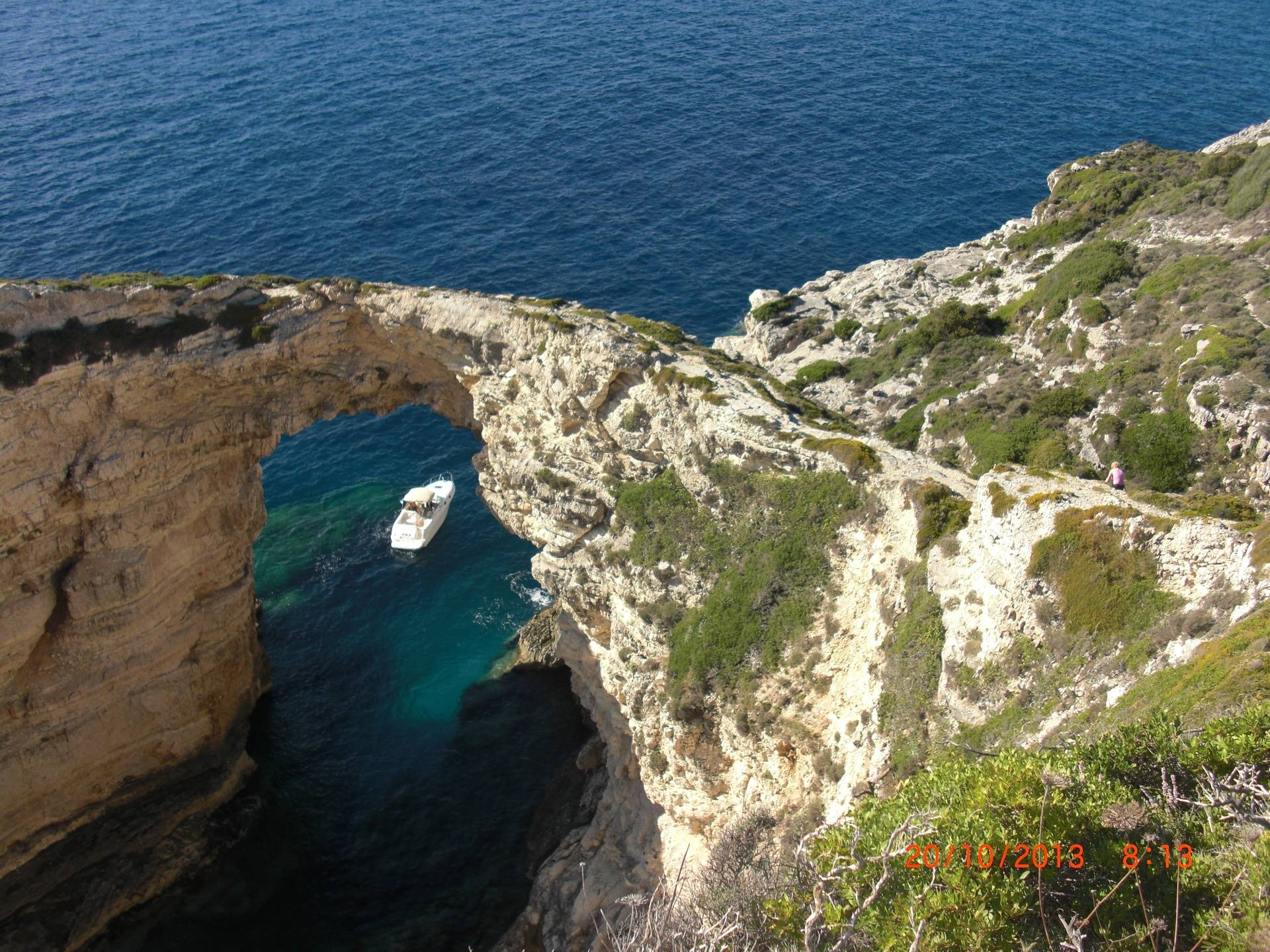 A scary walk over the Tripitos Arch