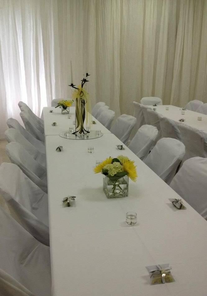 Curtain Wall & Table Setting
