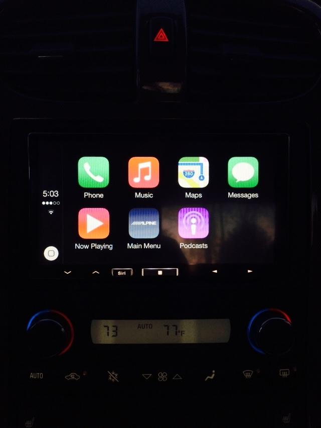 Alpine iLX-007 with Apple CarPlay in '09 Vette