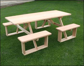6' 4 Seat picnic table