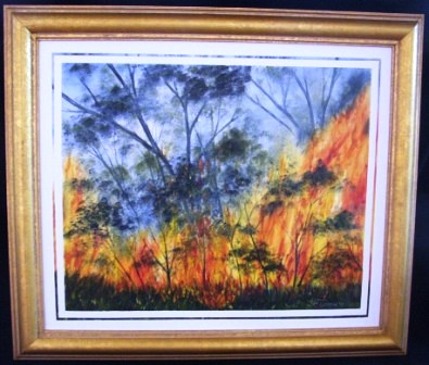 "BUSHFIRE donated to ""Mary St Revival"" to be auctioned at a later date"