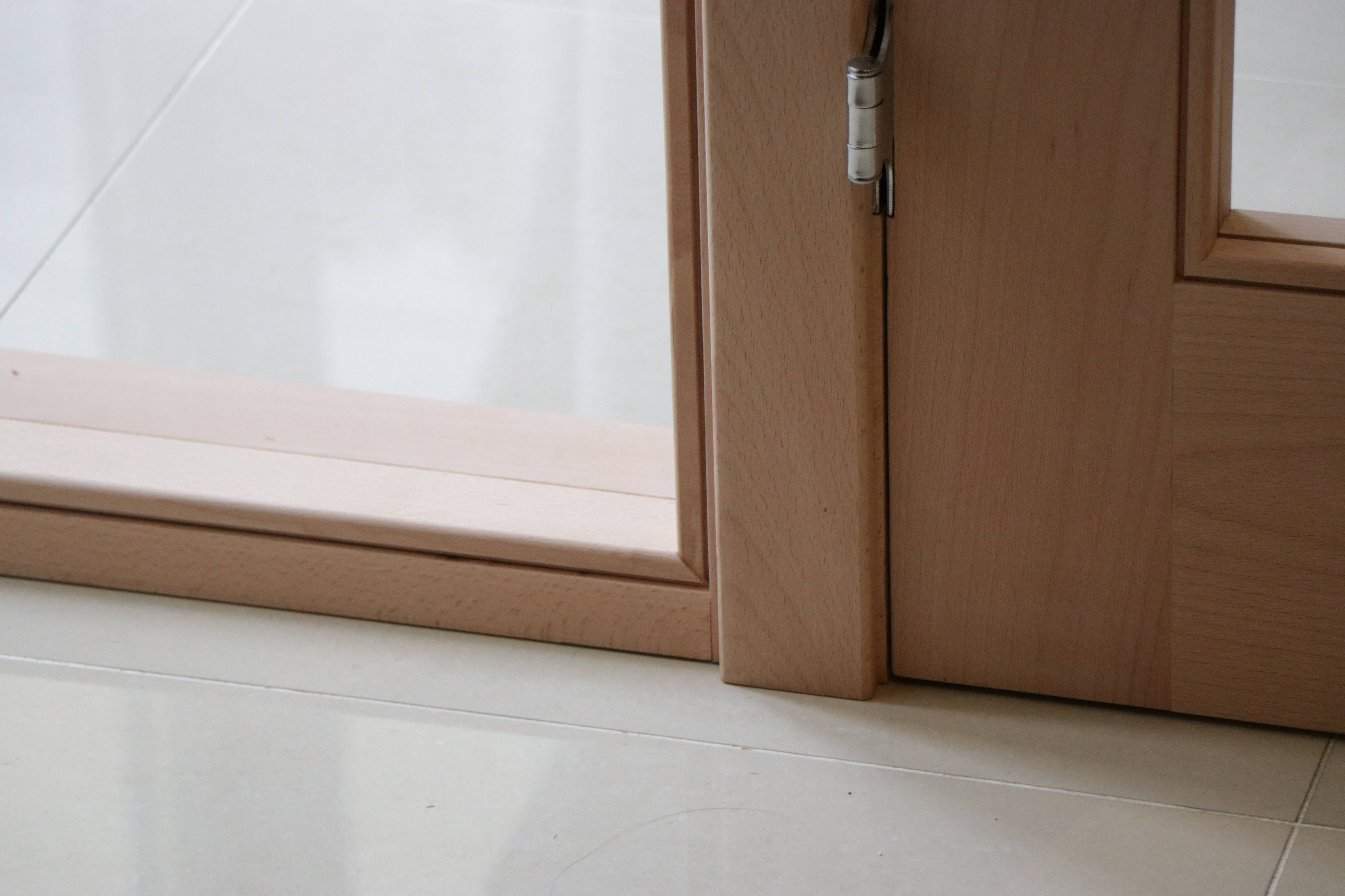 Interior wooded doors and glass panels