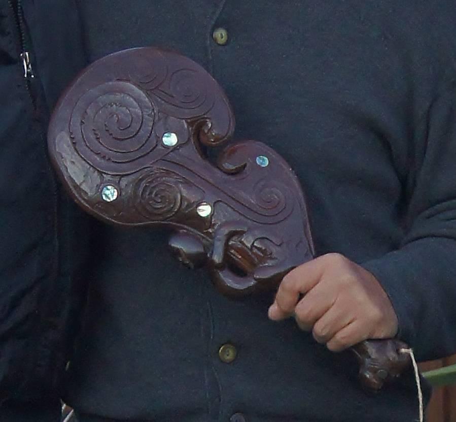 Patu presented to Sifu Danny Xuan.