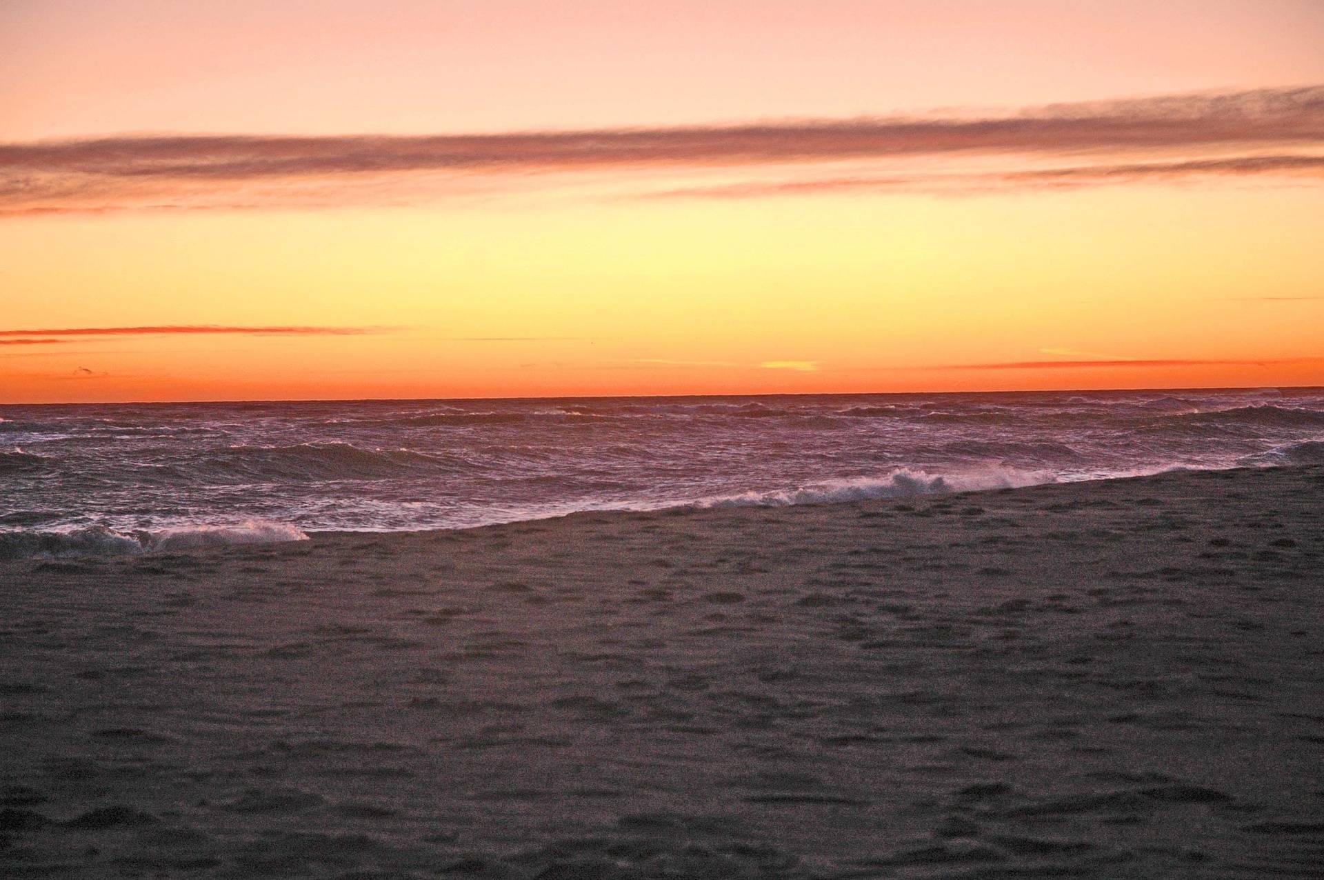 Orange and purple sunset at South Beach