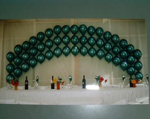 Wedding Balloon Decor Helium filled