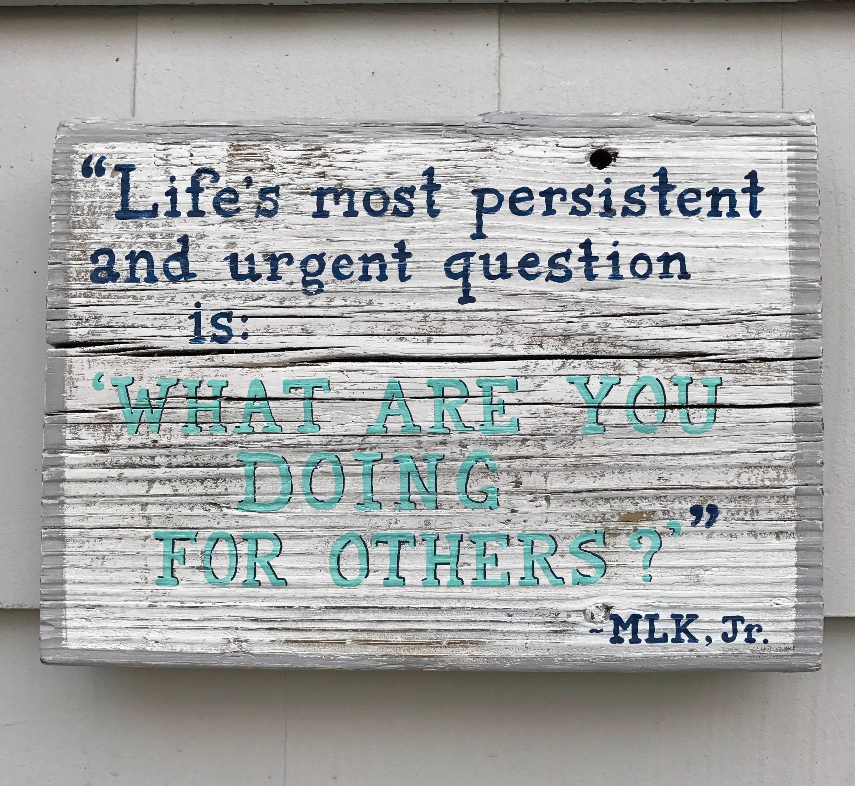 Life's most persistent & urgent Question