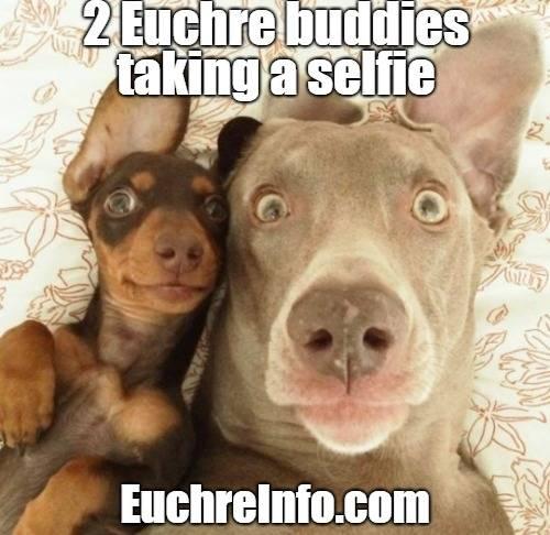 2 Euchre buddies taking a selfie.