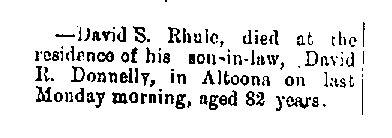 Rhule, David 1887