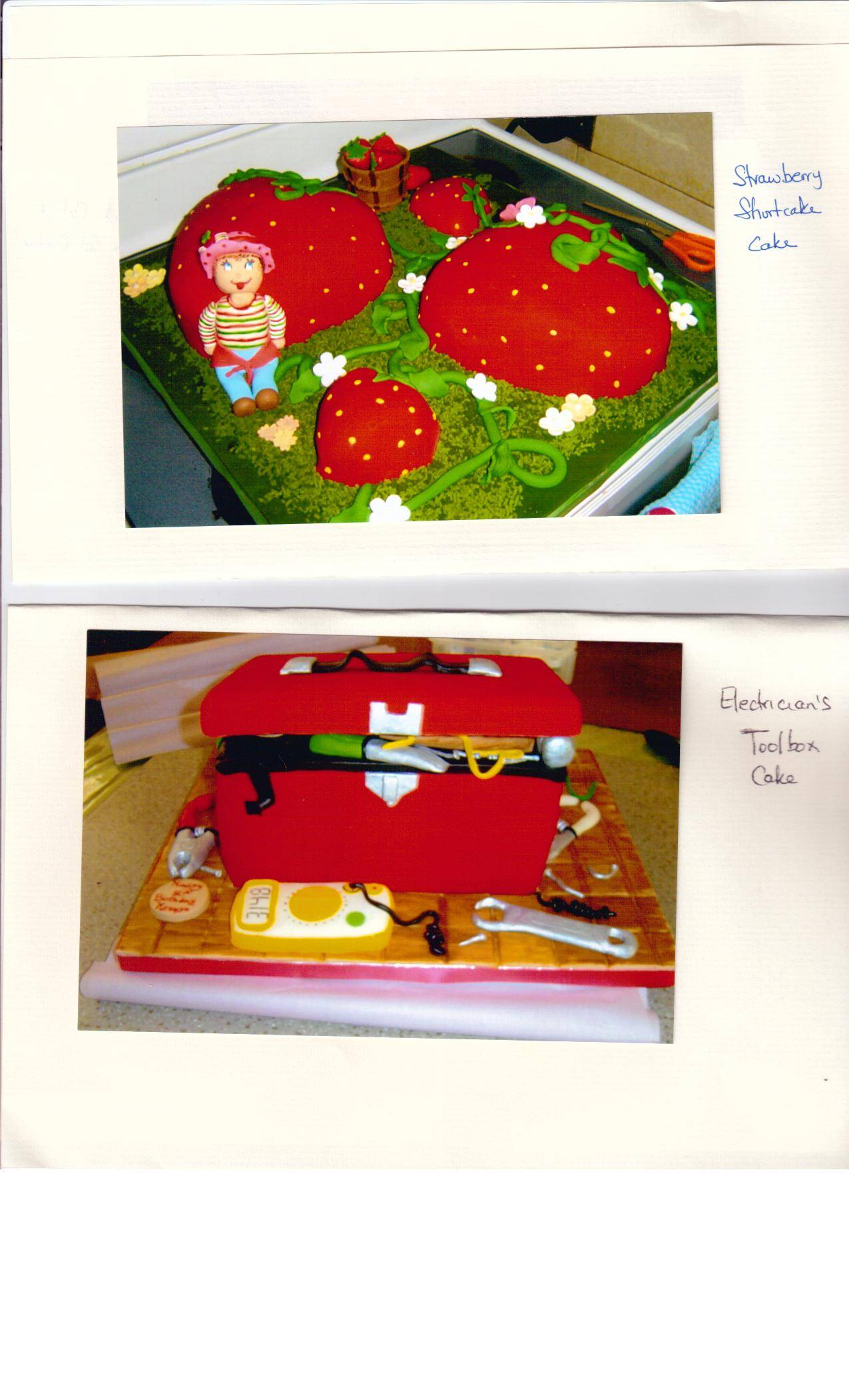 Cake 09A1 - Strawberry Shortcake & Electrician's ToolBox Cakes