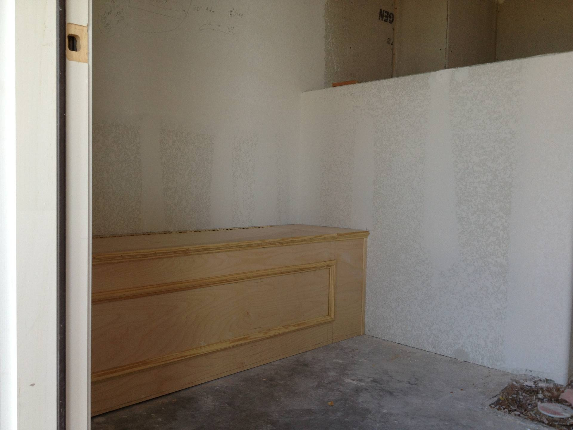 bench seat with towel storage in bathroom