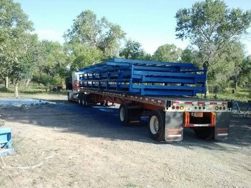 Load of truck scales