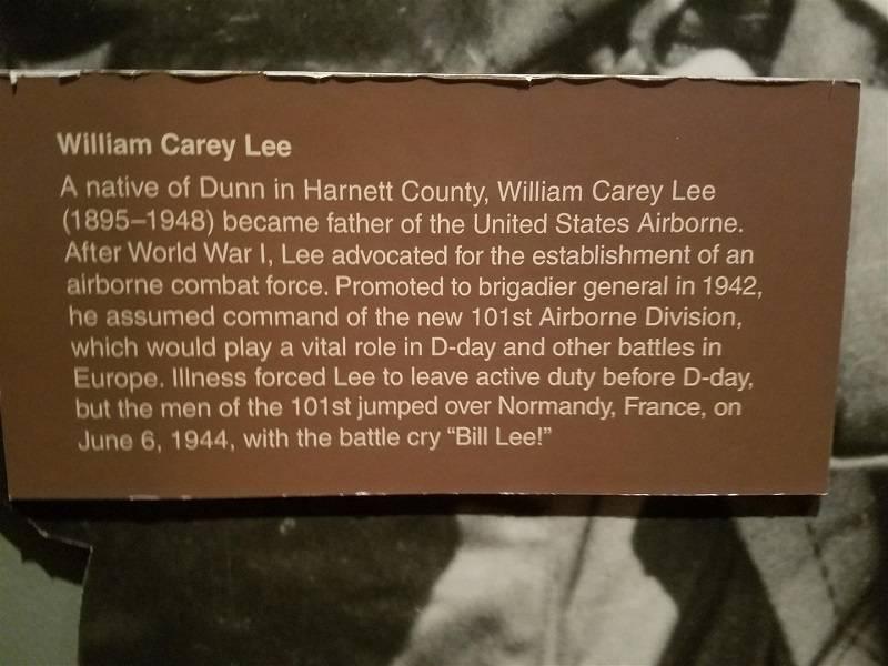 Lee exhibit sign