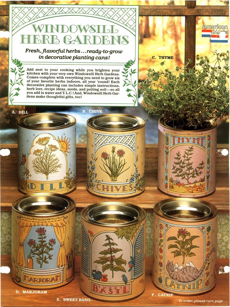Herb can labels