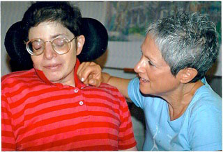 Aimee and Abigail planning her life, July 10, 2006, after being discharged from Hospice, very much alive::)