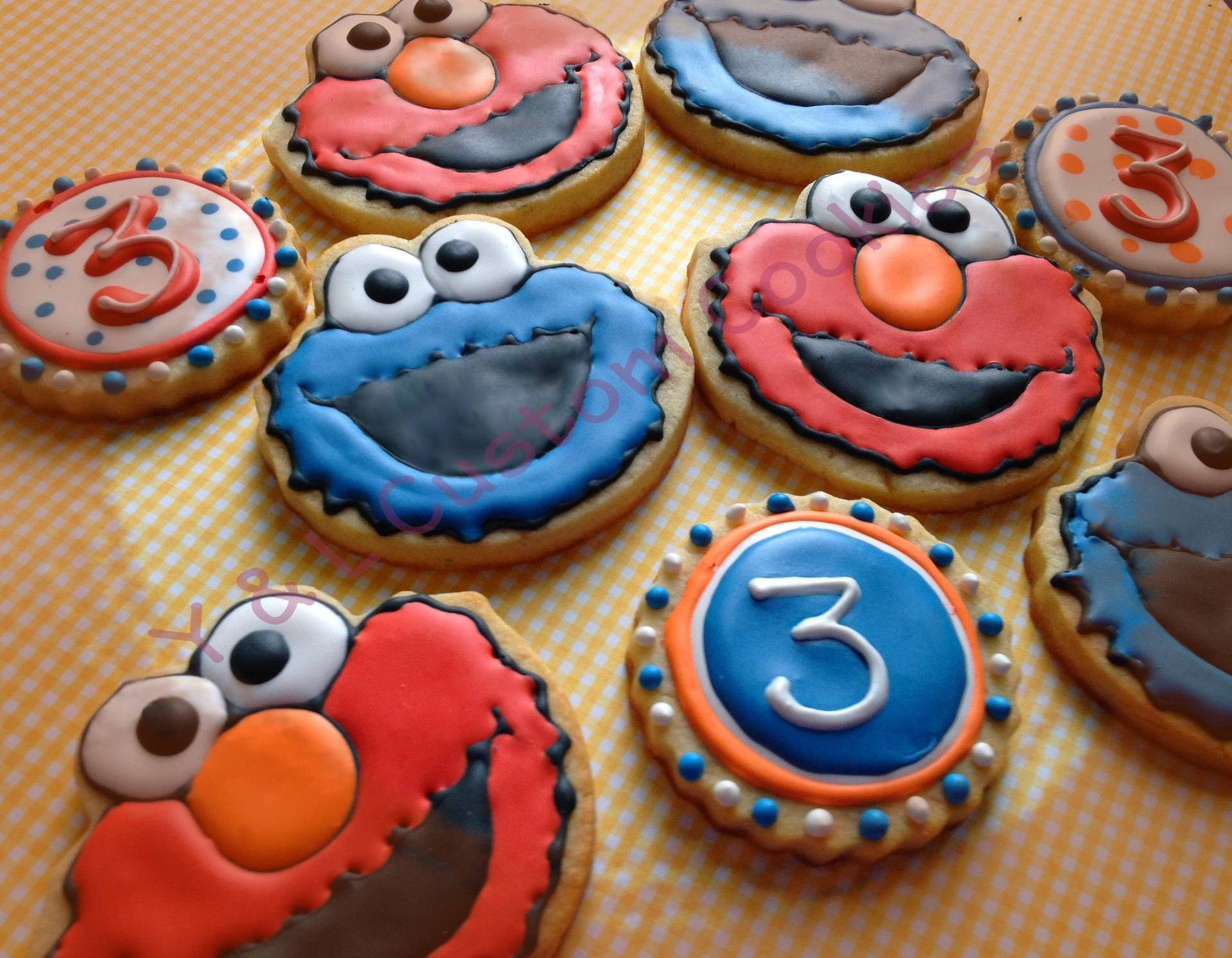 Birthday Cookies Sesame Street Theme