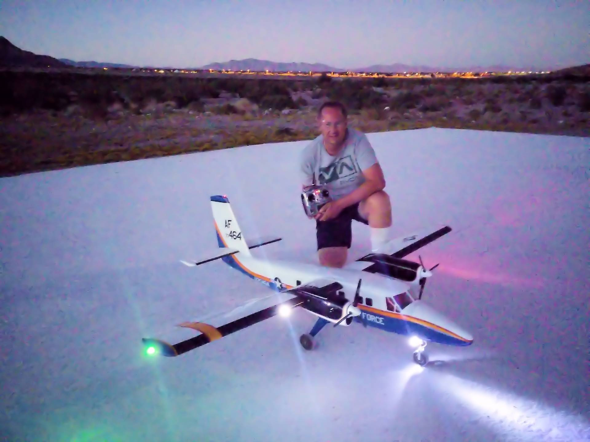 Nighttime on the LVSC runway