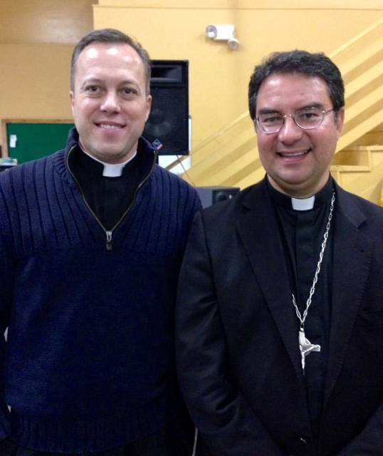Bishop Cantu & Father Christopher