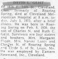 Geist, David 1973