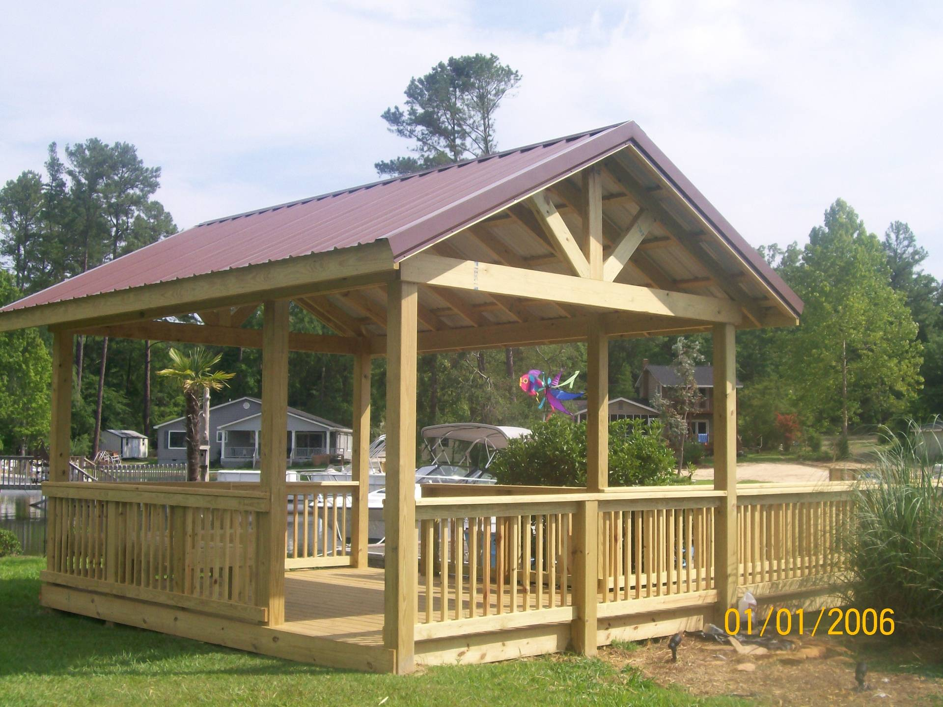 Gorgeous Gable Roofed Gazebo End