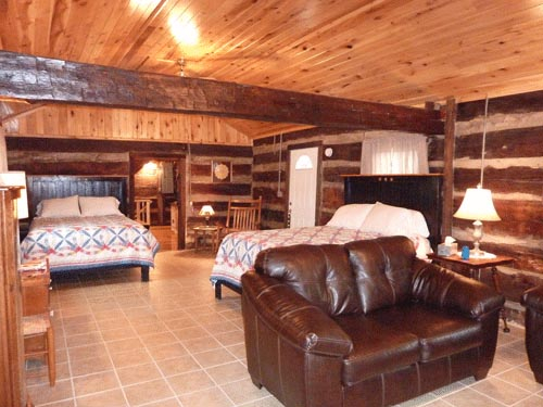 Cabin living and sleeping area
