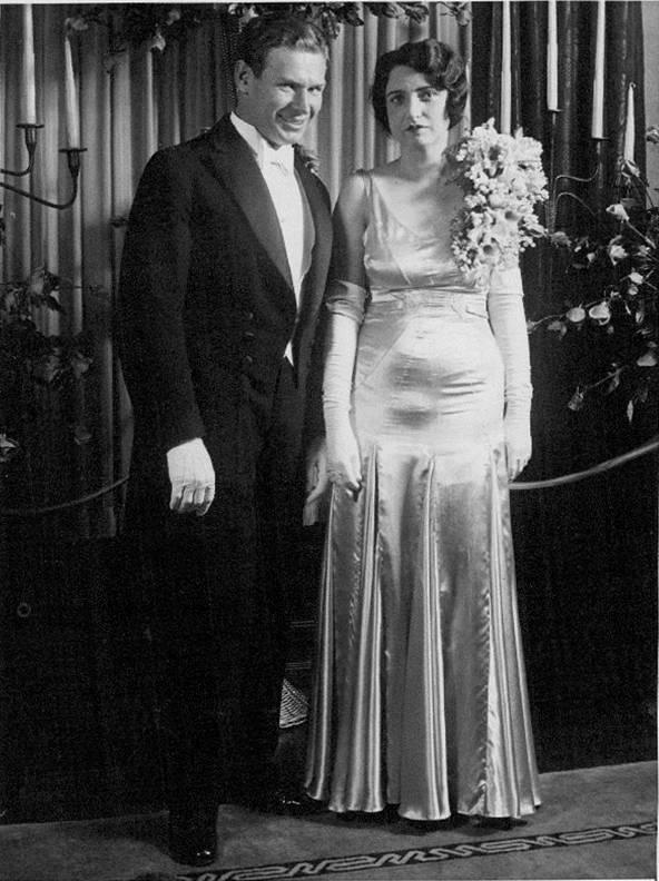Charley and Neva's wedding day