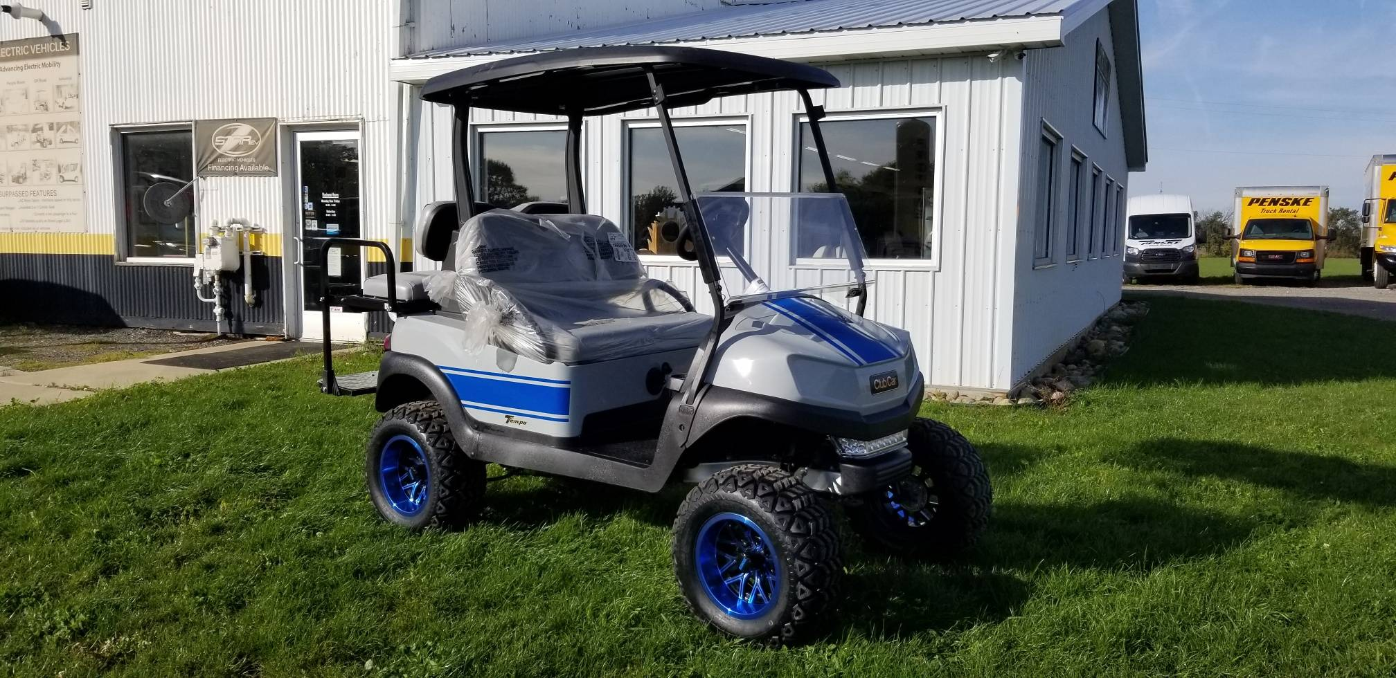 2019 Club Car Tempo Lifted with Custom Graphics