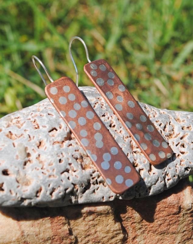 Solder Inlayed Earrings